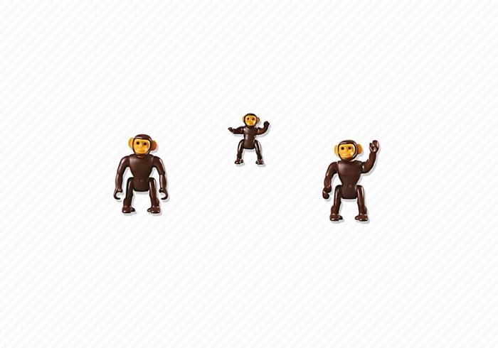 Конструкторы Playmobil Семья Шимпанзе playmobil® зоопарк семья тигров playmobil
