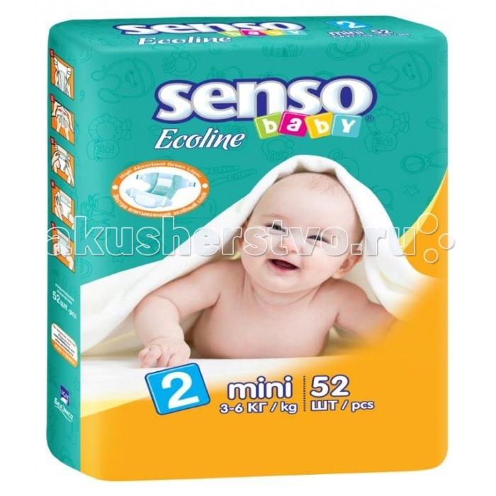 Подгузники Senso Baby Подгузники Ecoline мини (3-6 кг) 52 шт.