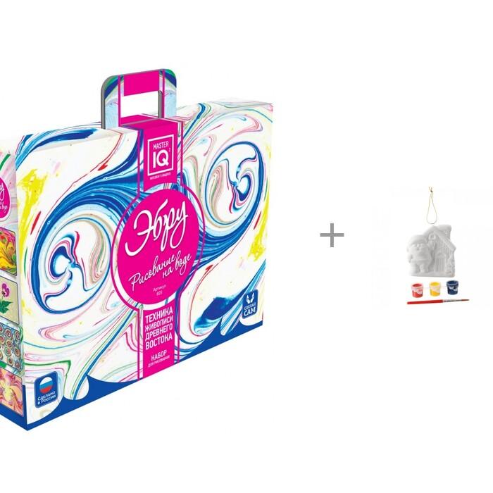 Купить Картины своими руками, Каррас Рисование на воде Эбру и комплект для творчества Ёлочные украшения Домик Деда Мороза