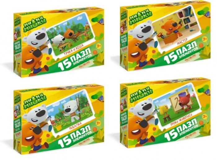 Пазлы Origami Пазл-мини Ми-Ми-Мишки Мишки за работой (15 элементов) origami набор обучающий origami ми ми мишки 6 в 1 чтение счет