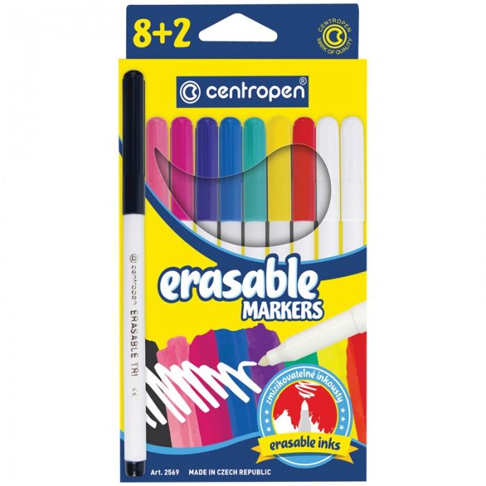 Фломастеры Centropen стираемые Erasable 10 цветов шт.