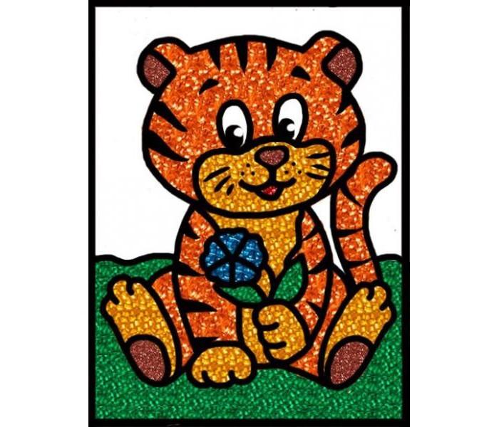 Наборы для творчества Эра Набор для создания открытки Насыпь - наклей Тигренок набор для девочки тигренок с браслетом и подвеской crystal surprise