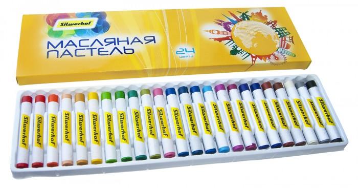 Карандаши, восковые мелки, пастель Silwerhof Пастель масляная Солнечная коллекция 24 цвета