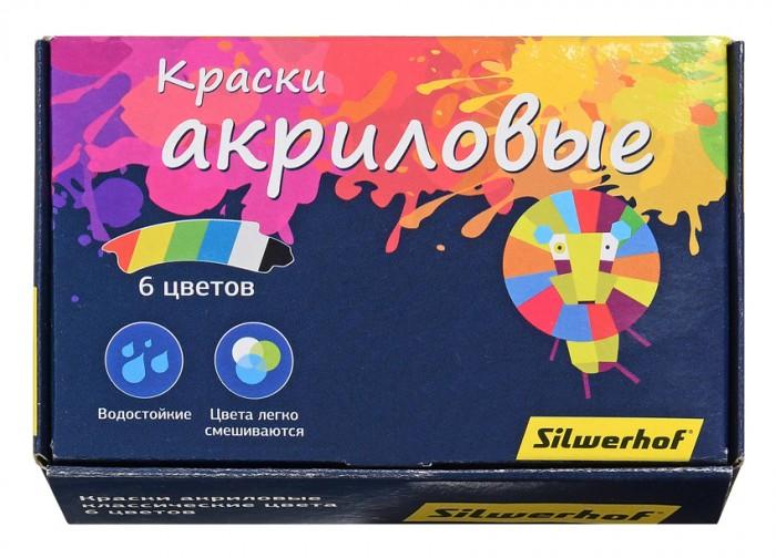 Краски Silwerhof Краски акриловые Цветландия 6 цветов 20 мл