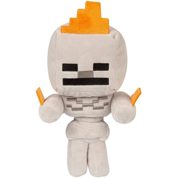 Мягкие игрушки Jinx Minecraft Happy Explorer Skeleton on fire 22 см мягкая игрушка jinx minecraft детеныш волка 20 см