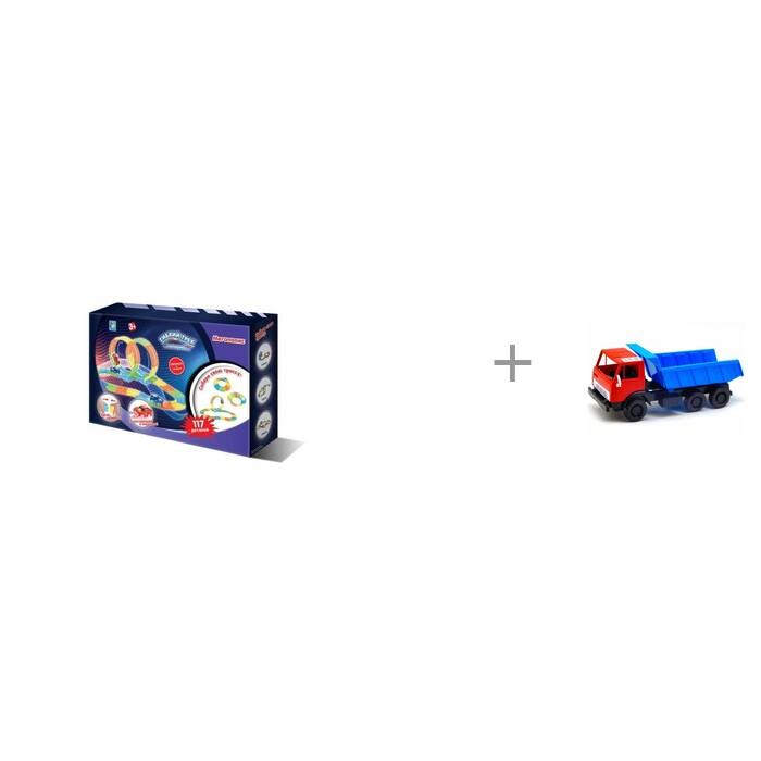 Купить Машины, 1 Toy Гибкий трек Мегаполис (117 деталей) и автомобиль Орион Самосвал Х1