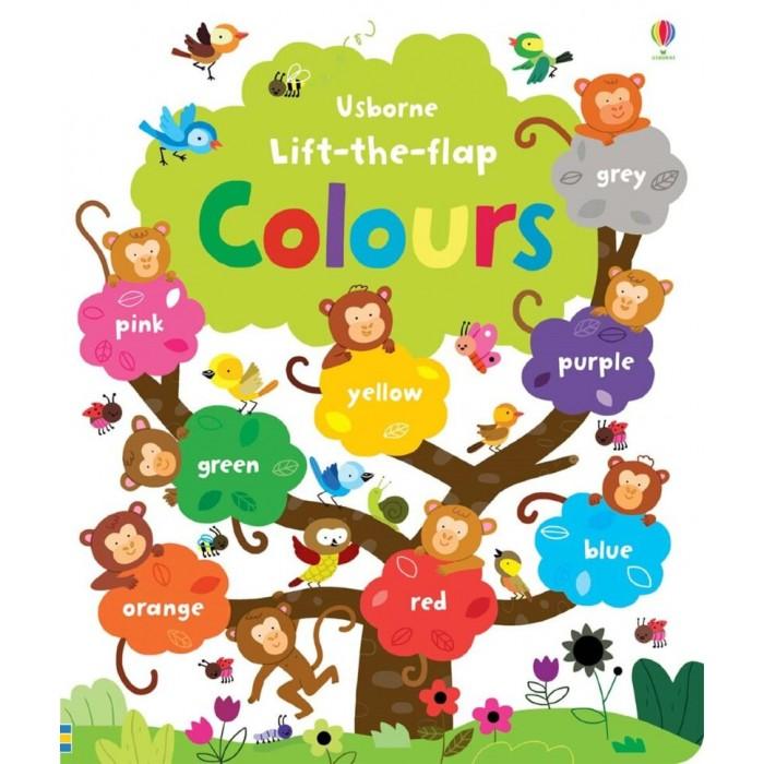 Обучающие книги Usborne Lift-the-Flap Colours lift the flap numbers