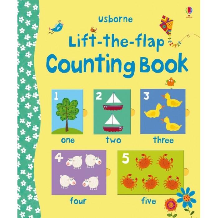 Обучающие книги Usborne Lift-the-Flap Counting Book lift the flap numbers