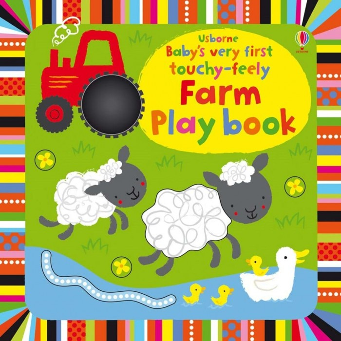 Развивающие книжки Usborne Babys Very First Touchy-Feely Farm Play Book