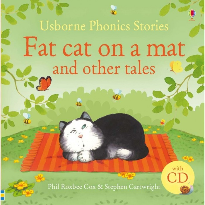 Развивающие книжки Usborne Fat Сat on a Mat and Other Tales with CD
