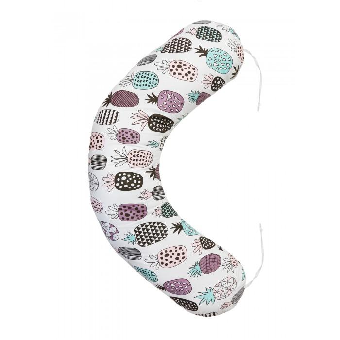 Наволочки AmaroBaby Наволочка к подушке для беременных Ананасики 170х25 см подушки для беременных amarobaby подушка для беременных индейцы 170х25 см