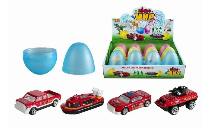 Купить Машины, Yako Набор транспорта в яйце 12 шт. M0355