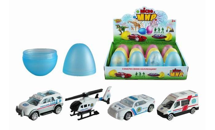 Купить Машины, Yako Набор транспорта в яйце 12 шт. M0356