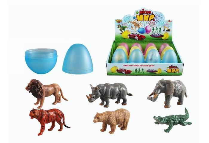Игровые фигурки Yako Игровой набор Животные в яйце 12 шт. M0287-1