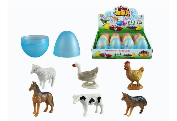 Игровые фигурки Yako Игровой набор Животные в яйце 12 шт. M0288-1