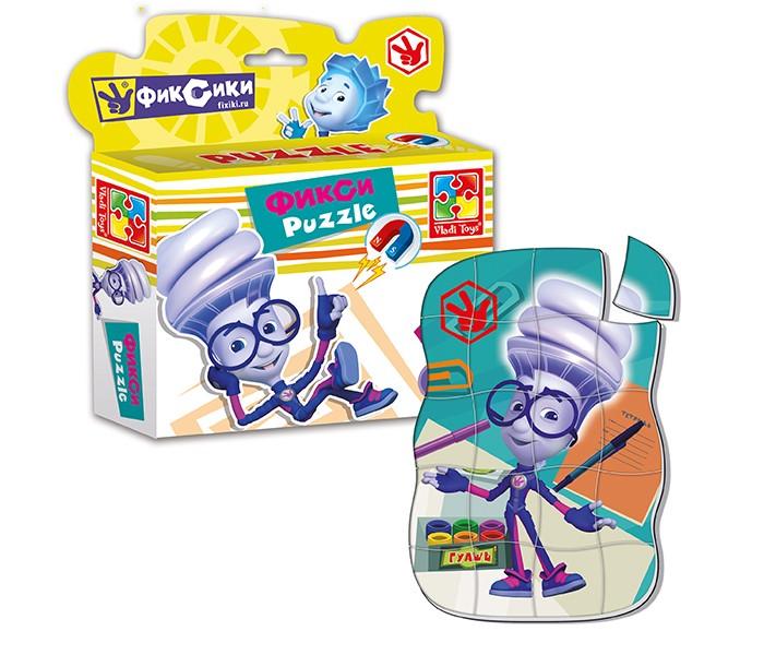 Пазлы Vladi toys Магнитные фигурные пазлы Фиксики Игрек 20 деталей пазлы magic pazle объемный 3d пазл эйфелева башня 78x38x35 см