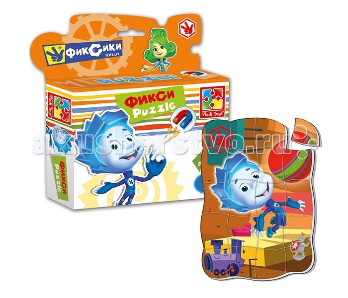 Пазлы Vladi toys Магнитные фигурные пазлы Фиксики Нолик 20 деталей пазлы magic pazle объемный 3d пазл эйфелева башня 78x38x35 см