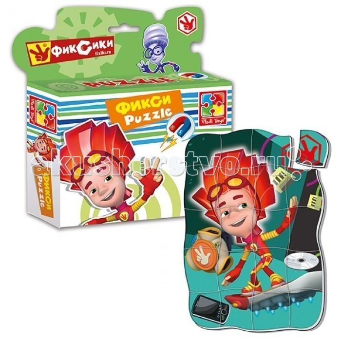 Пазлы Vladi toys Магнитные фигурные пазлы Фиксики Файер пазлы vladi toys магнитные беби пазлы домашние любимцы