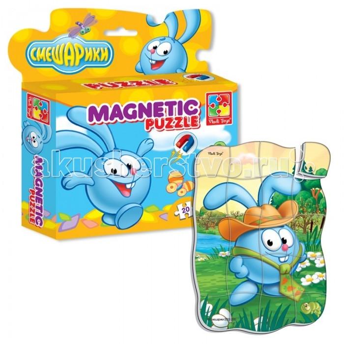 Пазлы Vladi toys Магнитные фигурные пазлы Смешарики Крош набор для творчества тм vladi раскраски глиттером сова