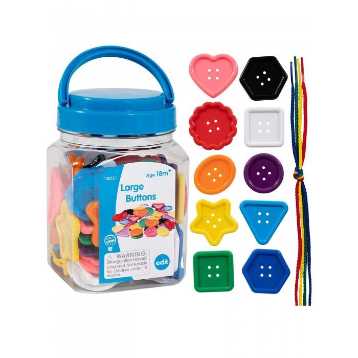 Купить Раннее развитие, EDX Education Счетный материал Пуговицы большие, цветные