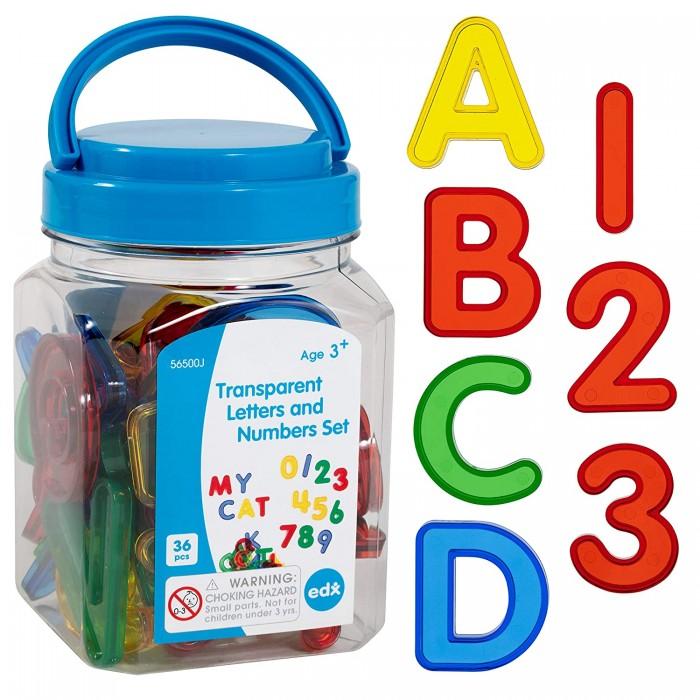 Купить Раннее развитие, EDX Education Набор Буквы и цифры прозрачные