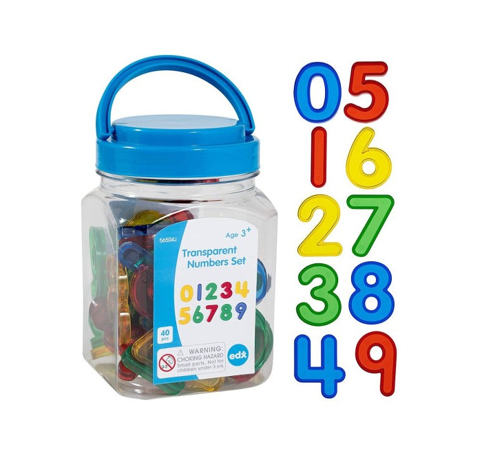 Купить Раннее развитие, EDX Education Набор для счета Цифры прозрачные