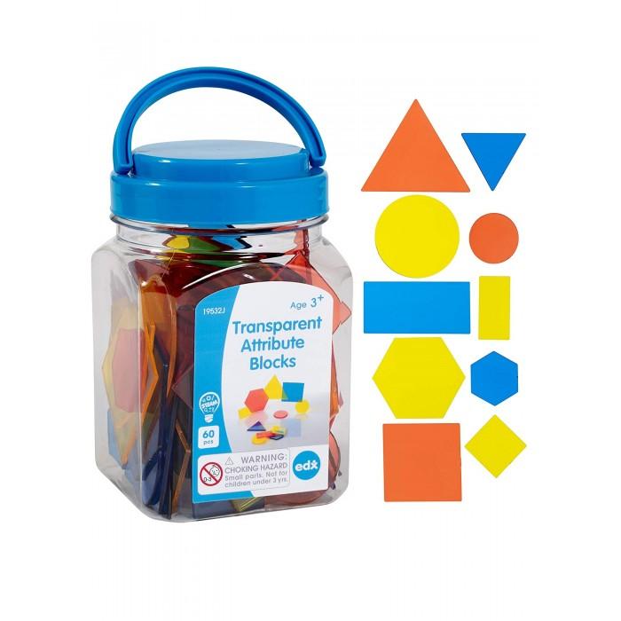 Купить Раннее развитие, EDX Education Счетный материал Блоки фигурные прозрачные