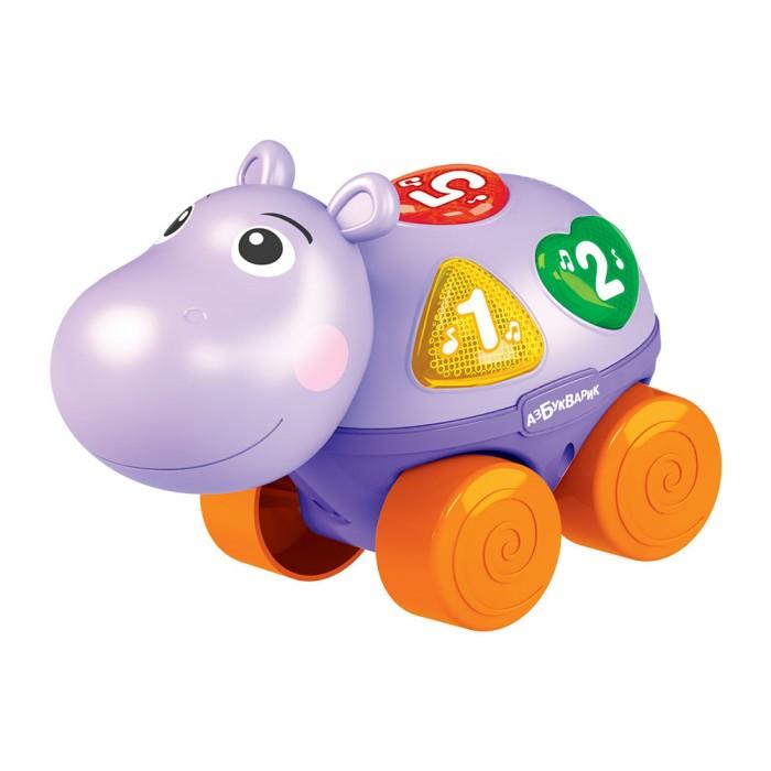 Картинка для Развивающие игрушки Азбукварик Каталочка музыкальная Бегемотик