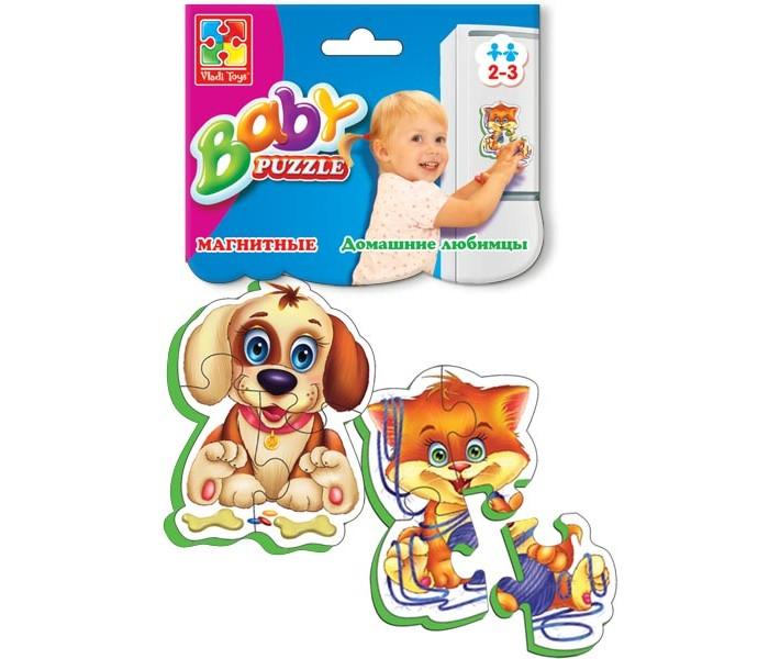 Пазлы Vladi toys Магнитные Беби пазлы Домашние любимцы магнитная игра развивающая vladi toys домашние любимцы