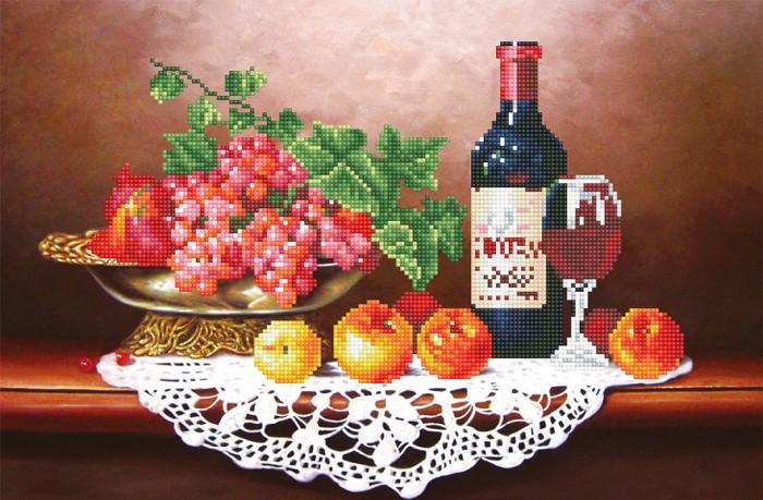 Фрея Кристальная мозаика Вино с фруктами 34х52 см