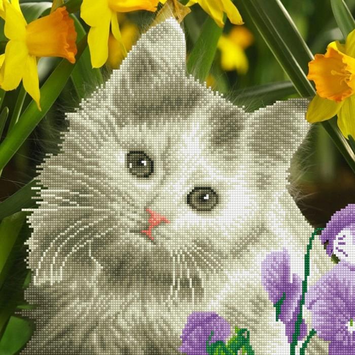 Фрея Кристальная мозаика Милый котенок 42х42 см