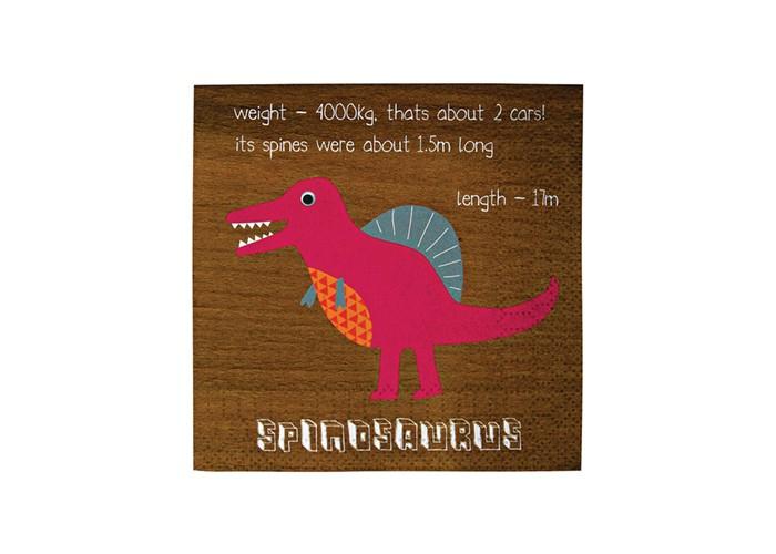 Картинка для Товары для праздника MeriMeri Салфетки Динозавры 12.5x12.5 см 20 шт.