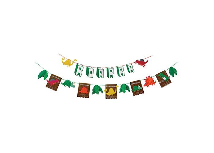 Товары для праздника MeriMeri Гирлянда Динозавры товары для праздника merimeri мини шляпы для вечеринки волшебная принцесса