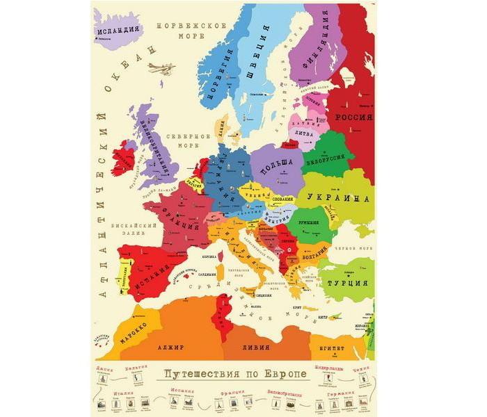 Эврика подарки и удивительные вещи Тубус-карта План покорения Европы