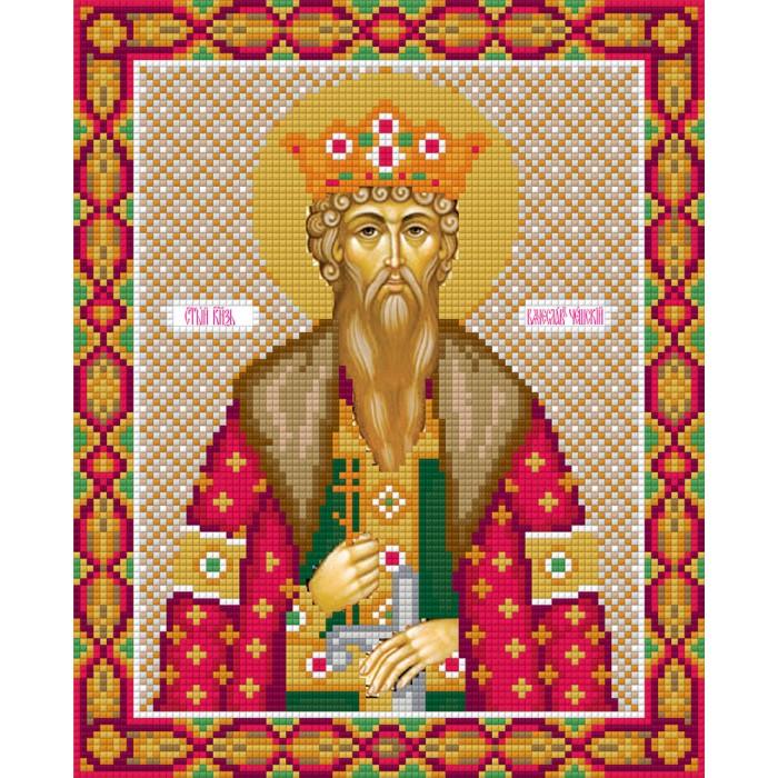 Фрея Кристальная мозаика Икона Святого князя Вячеслава Чешского 27x22 см