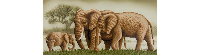 Фрея Кристальная мозаика Семейство на прогулке 22.5x52 см
