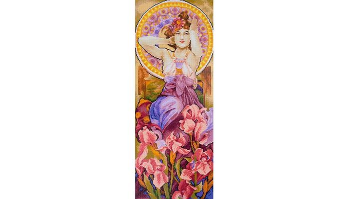 Фрея Кристальная мозаика Аметист и ирисы 71.5x27.5 см