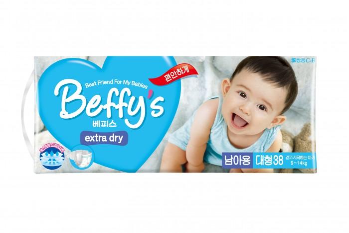 Подгузники Beffys Подгузники для мальчиков extra dry L (9-14 кг) 38 шт.