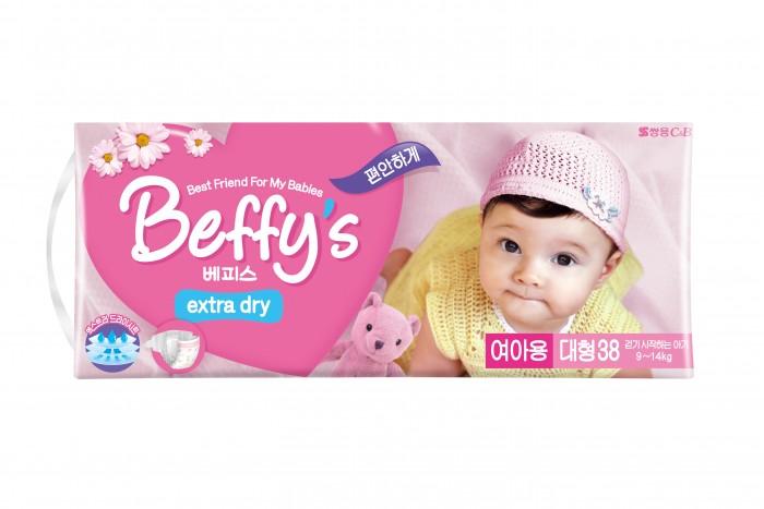 Подгузники Beffys Подгузники для девочек extra dry L (9-14 кг) 38 шт.