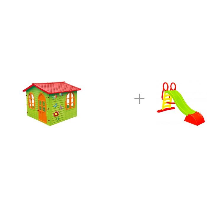 Купить Игровые домики, Mochtoys Игровой домик 10425 и детская большая горка 110 см с подключением воды Mochtoys