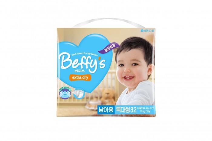 Подгузники Beffys Подгузники для мальчиков extra dry XL (13+ кг) 32 шт. beffy s extra soft подгузники трусики xl 13 18 кг 32 шт