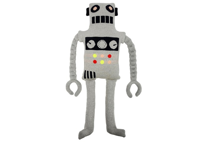 Мягкие игрушки MeriMeri Подушка декоративная трикотажная Робот