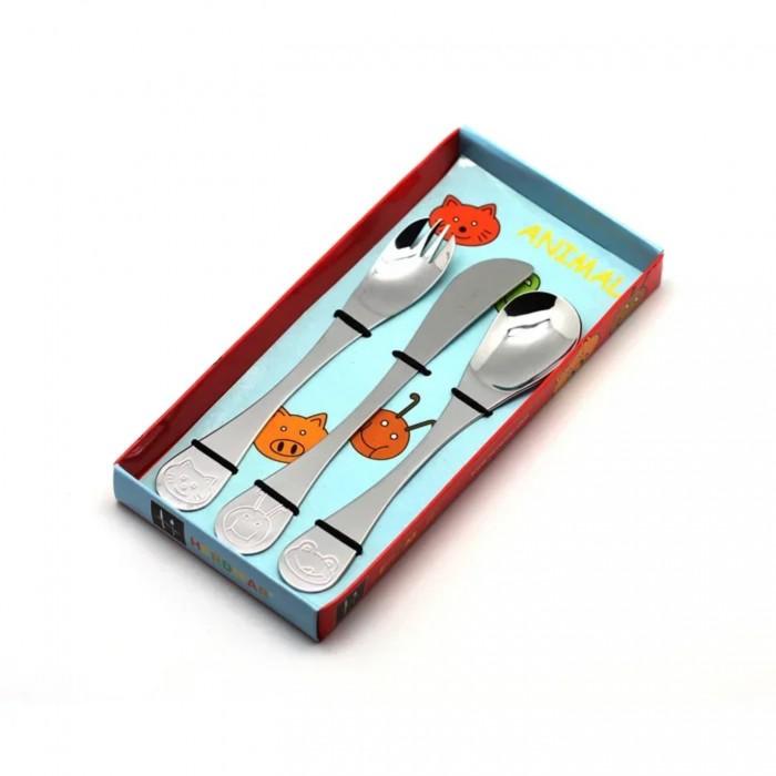 Картинка для Столовые приборы Herdmar Детский набор Animals (3 предмета)