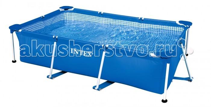 Бассейн Intex каркасный 220х150х60 смкаркасный 220х150х60 смБассейн 28270NP — это каркасный бассейн, который не займет много времени и сил в процессе сборки (бассейн устанавливается в среднем за 30 минут).   Изделие состоит из двух частей — прочного каркаса и чаши, изготовленной из двухслойного винила. Стенки бассейна покрыты специальным покрытием с помощью технологии Super-Tough. Технология Super-Touch (сочетание винила и полиэстра), используемая в производстве, наделяет материал тройной прочностью, стойкостью к ударам, воздействию солнечного света, растягиваниям и стираниям.  Бассейн можно разместить на даче или взять с собой на отдых на природу. Бассейн не рекомендуется использовать при минусовой температуре.  Модель оснащена клапаном для удобства слива воды и разъемами для подключения фильтрующих и хлорирующих устройств.   Размер: 220х150х60 см.  Вместимость бассейна: 1662 л.  Вес: 15 кг.<br>