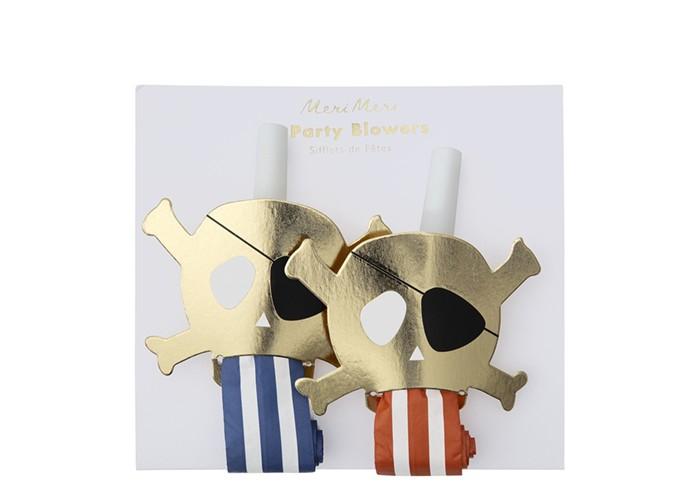 Товары для праздника MeriMeri Свистки для вечеринки Пираты 4 шт. товары для праздника merimeri мини шляпы для вечеринки волшебная принцесса