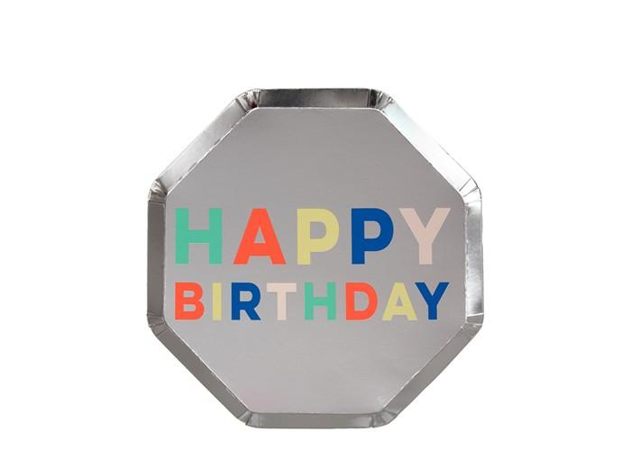 Купить Товары для праздника, MeriMeri Тарелки Палитра для Дня Рождения 125х125 мм 8 шт.