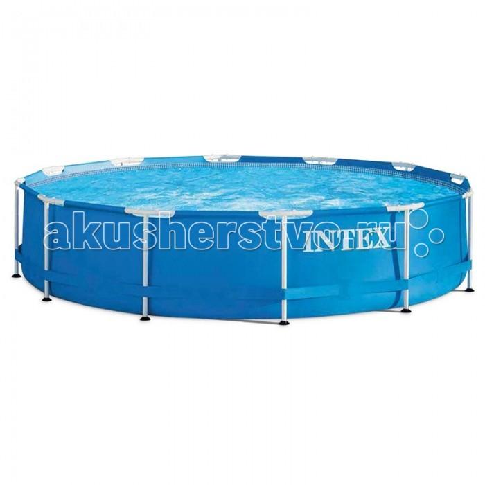 Бассейн Intex каркасный 366х76 смкаркасный 366х76 смКаркасный бассейн Intex имеет прочный металлический ободок. Такая чудесная модель прекрасно для купания в жаркие летний день. Конструкцию можно поставить на заднем дворе дома или на дачном участке.   Бассейн собирается не больше чем за пол часа, что экономит время и позволит вашим детям не томиться в ожидании.   Бассейн очень прочный. Металлический каркас обеспечивает дополнительную устойчивость, стенки бассейна сделаны из трех слоев: первые два — это прочный винил, между стенками имеется сетка из полиэстера, благодаря которой конструкция будет дольше служить.   Водосток имеет удобную форму, которая отлично соединяется с садовым шлангом. Тем самым, спуская воду с бассейна, вы можете полить цветы на участке.  Размер: 366х76 см.  Вместимость бассейна: 6503 л.  Вес: 21 кг.<br>