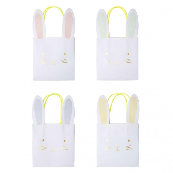 Товары для праздника MeriMeri Подарочные пакеты пастельные Кролик