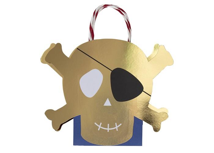 Товары для праздника MeriMeri Пакеты для подарков гостям Пираты 8 шт. procos s a пакеты подарочные procos самолеты 6 шт