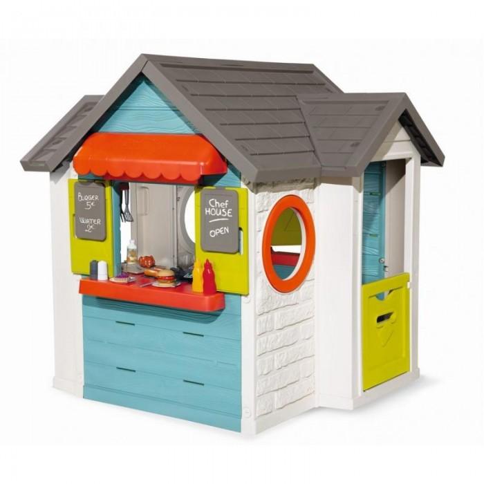 Купить Игровые домики, Smoby Домик детский для улицы 3 в 1: садовый домик, ресторан и магазин